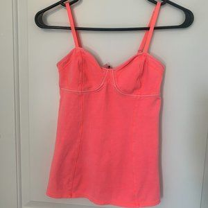 Aritzia Talula Bustier Style Tank Top - Bright Coral, Size Small